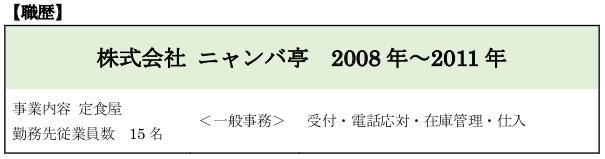 職務経歴書・職歴